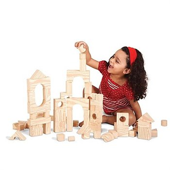 Blocs et formes souples - 80 pcs - Wood Like soft Blocks