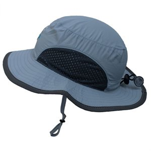 Chapeau Sèche Rapide ajustable - Bord Large - Requin Grey