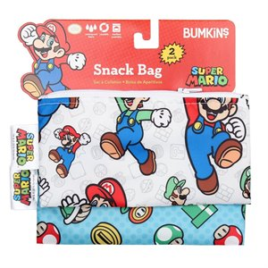 Ensemble de 2 sacs à Collation réutilisable - Super Mario