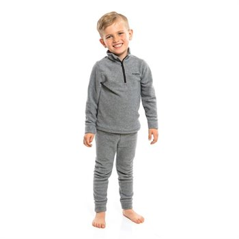 Ensemble sous vêtement thermal en polar - Gris