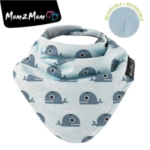 Fashion bandana reversible - Bavette Wonder bib - Baleine