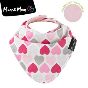 Fashion bandana reversible - Bavette Wonder bib - Coeurs