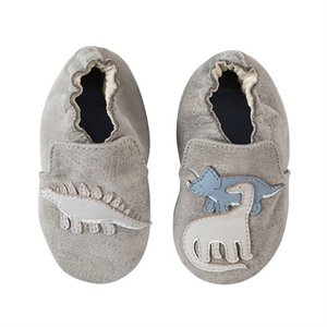 Pantoufle - Grey Ramsey Soft Soles - Dinosaures 6-12 mois