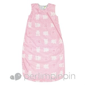 Sac de nuit - Gigoteuse - Velours - Petit Ours - 2 Togs 6-18 m Rose