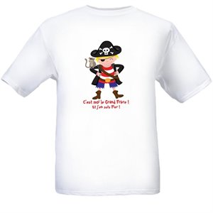 T-Shirt Pirate Grand frère 4-5 ans