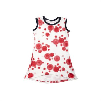 Robe - Pois rouge 4-5 ans