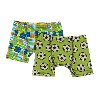 Ensemble de 2 Caleçon / Boxer - Meadow soccer and amazon houses 5-6 ans