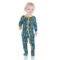 Pyjama en Bambou - 1 pièce zipper - Twilight tropical birds 3 ans