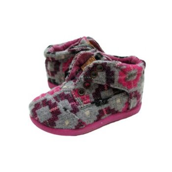Botas Wool - Chaussure montante - Tiny us 7 eur 23 Gris & Rose