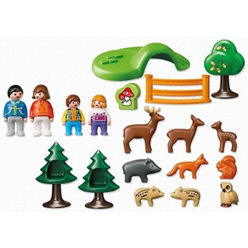 playmobil parc d animaux et famille 1 2 3. Black Bedroom Furniture Sets. Home Design Ideas