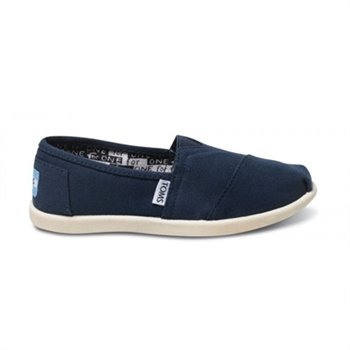 Classic Canvas - Youth - Blue Junior us 2.5 eu 34.5 Marine Navy