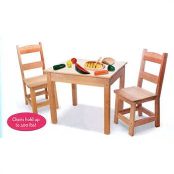 Melissa and doug table 2 chaises en bois pin naturel for Table et chaise en pin