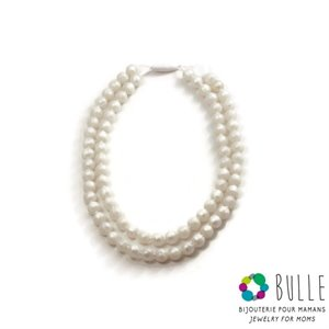 Collier de dentition - Maman - Perle double mini - Qc