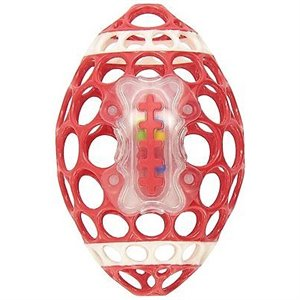 Balle Hochet sportif - Grab & rattle football Rouge