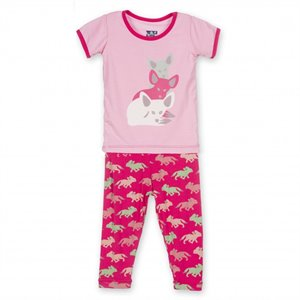 Pyjama 2 pces - Prickly Pear Desert Fox - Renard Fennec 5 ans Rose