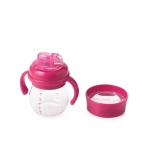 Ensemble de tasse d'apprentissage anti fuite Rose Fuchsia