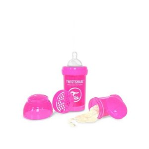 Biberon anti colic Twistshake - 180 ml / 6 oz Rose