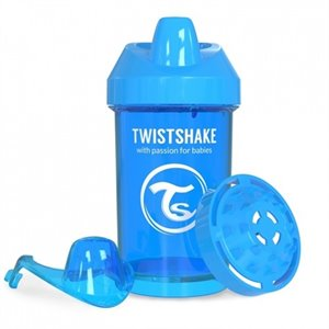 Gobelet Crawler Cup Twistshake - 300 ml / 10 oz Bleu