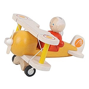 Avion et figurine - Classic Airplane - En bois