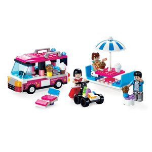 Camion de crème glacée + stand + 3 figurines - Imagine