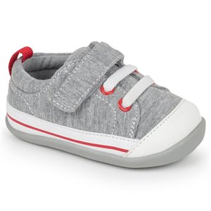 Stevie II - Velcro & Faux Lacets - Grey Jersey