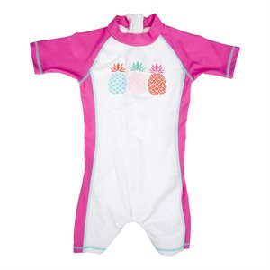 Maillot de bain sport 1 pc Swimsuit Anti UV - Ananas Pineapple