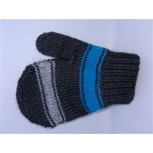 Mitaine en tricot - Charcoal/Turquoise 3-4 ans