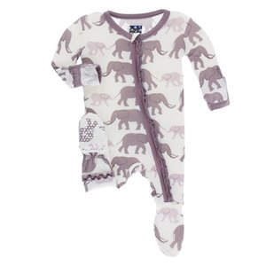 Pyjama en Bambou MR footie - Natural Éléphant elephant 6-9 mois