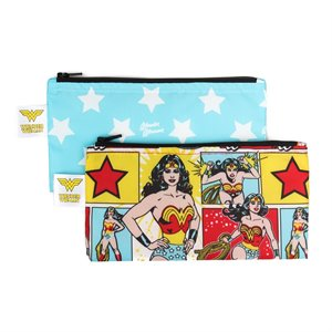 Ensemble de 2 sacs à Collation réutilisable - Wonder Woman