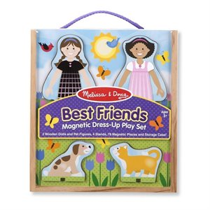 Best friends Magnetic Dress-Up - Ensemble aimanté de 2 amies à Habiller