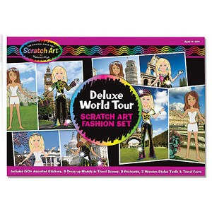 Ensemble de Scratch Travelin scratchin fashion dress-up stickers deluxe