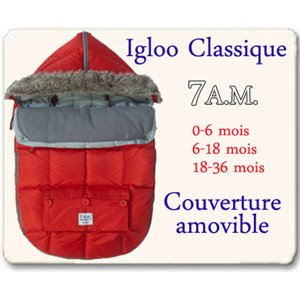 Sac Igloo Classique - 7am - Red 6-18 mois Rouge