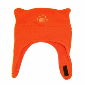 Tuque en polar ours 1.5-4 ans / 51-53 cm Orange