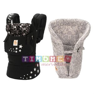 Porte bébé  avec Insert - Duo Pack / Bundle of Joy - Night Sky/Galaxy Grey Insert