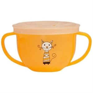 Feeding Cup - Tasse anti dégât - Chat orange
