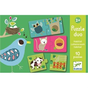 Puzzle Duo - Association - Les Habitats
