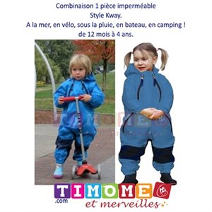 Imperméable 1 pce Muddy Buddy Style Kway - Blue