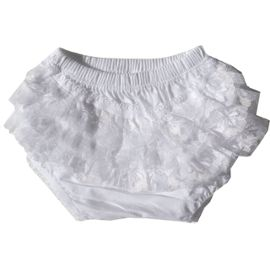 Cache couche Bloomers Blanche - Taille XS - 3-12 mois Blanc