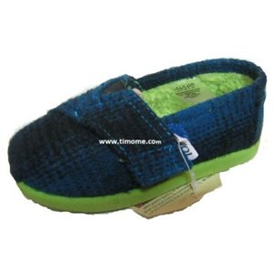 Classics Wool - Tiny - Blue Plaid Pop et Fourrure us 10 eur 26-27 Bleu & Vert