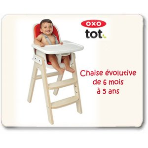 Chaise OXO Sprout - Évolutive et Ergonomique - Bouleau orange