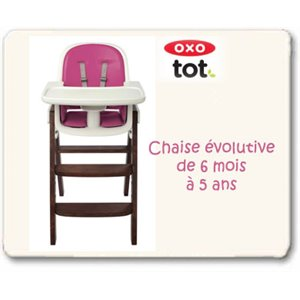 Chaise OXO Sprout - Évolutive et Ergonomique - Noyer Lilas