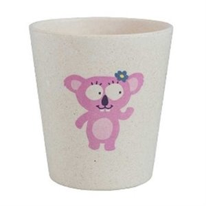 Verre à eau - Biodegradable - Koala rose