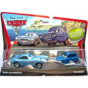 Ensemble de 2 voitures en metal - The Cars 2 - Finn McMissile & Tomber