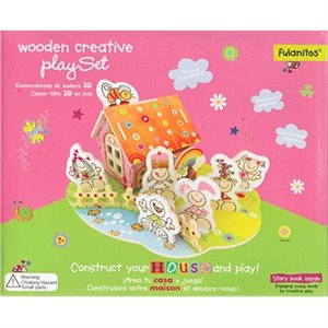 wooden creatice play set puzzle maison d en carton pais With wonderful plan maison r 1 100m2 3 architouch 3d pour ipad dessinez vos plans de maison