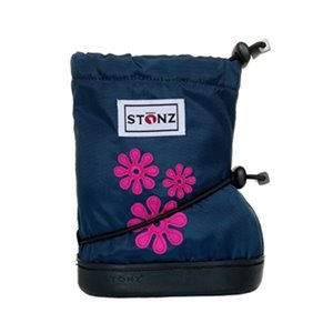 Bottes souple NEW - 60's Flowers pink 0-12 mois Booties STONZ - M 0-12 mois Marine Navy