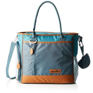 Sac a couches - Inclus 7 accessoires - Essential Bag Blanc/Gris claire/Orange