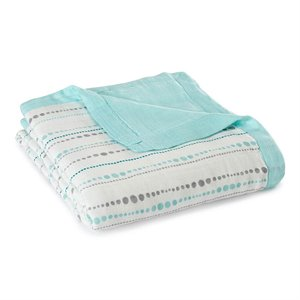 Couverture 4 épaisseurs - Bambou - Silky soft dream blanket - Azure